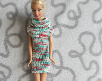 Sleeveless dress with collar for barbie doll