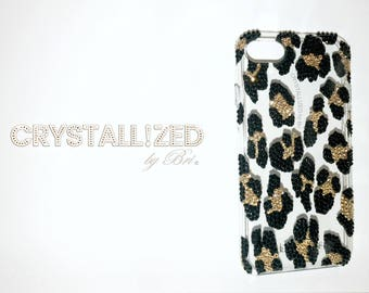 Custom CRYSTALLIZED Leopard iPhone Case Bling Made with Swarovski Crystals CRYSTALL!ZED by Bri 5 5s Se 6 6+ 6s 6s+ 7 7+ 8 8+ X Plus
