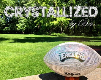 Swarovski CRYSTALLIZED Full Size Football Bling Crystals - CRYSTALL!ZED by Bri Philadelphia Eagles Superbowl Lii Football Nfl Bedazzled