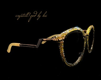 677c34d18c80 Custom CRYSTALLIZED Sunglasses Bling with Swarovski Crystals - CRYSTALL!ZED  by Bri Blinged Elton John