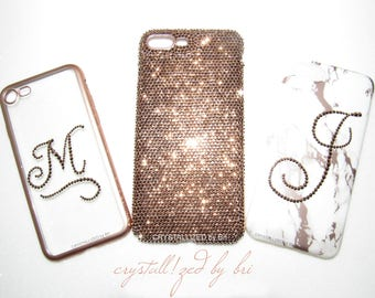 Custom CRYSTALLIZED Initial Transparent iPhone Case Bling Made with Swarovski  Crystals CRYSTALL!ZED by Bri 6 6+ 6s 6s+ 7 7+ 8 8+ X Plus 829e4e7c92