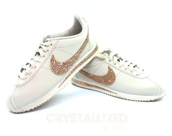 f41fc30e2690 Custom CRYSTALLIZED Nike s Sneakers Tennis Shoes Bling with Swarovski  Crystals - CRYSTALL!ZED by Bri Rose Gold White Blinged