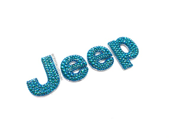 Custom CRYSTALLIZED Letters for JEEP Emblem Car Front Hood Badge Bling with  Swarovski Crystals - Crystall!zed by Bri Blinged
