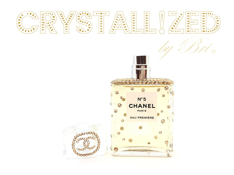 0416526cf8c1 Custom Crystallized Chanel No. 5 Perfume Bottle Bling with | Etsy