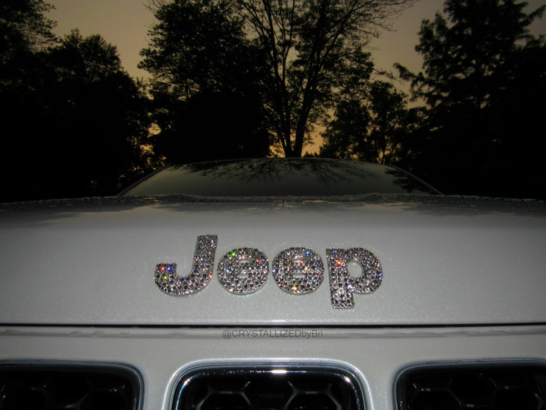Custom CRYSTALLIZED Jeep Letters Emblem Car Front Rear Badge Bling with  Swarovski Crystals - CRYSTALL!ZED by Bri Blinged