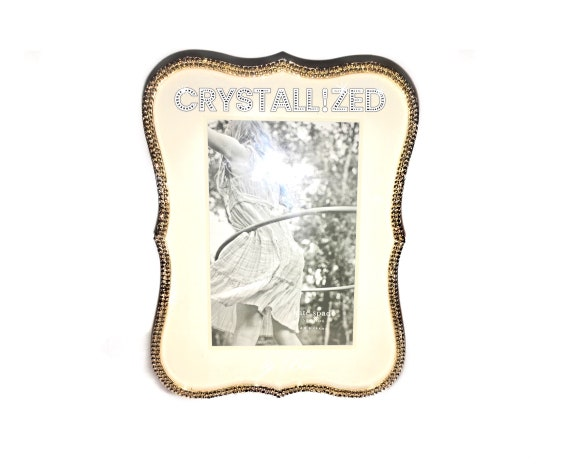 Crystallized 4x6 5x7 8x10 Kate Spade Gold Crown Point Picture Etsy