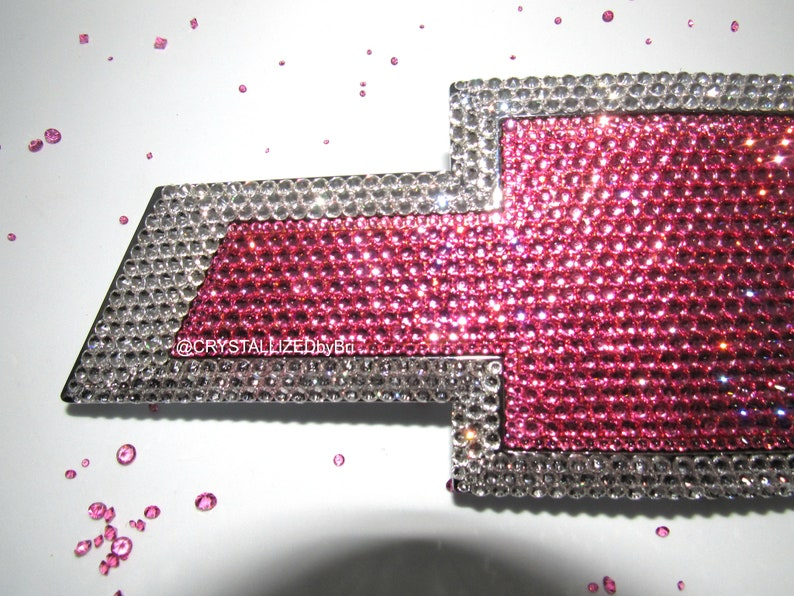 Custom CRYSTALLIZED Pink Chevy Chevrolet Rear Car Emblem Badge  440935cafea