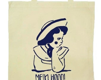 Cloth bags COASTAL GIRLS, maritime accessories bags jute bag, ahoy, anchor, I need vitamin sea, gift for women best friend