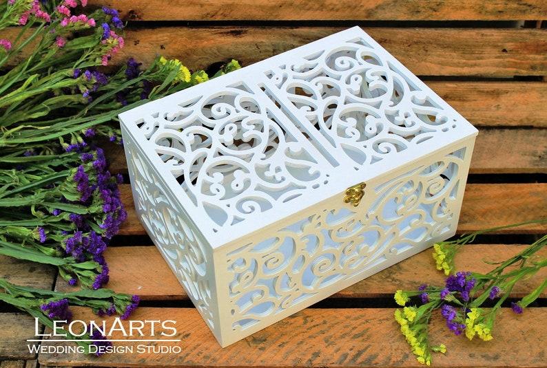 Wedding Card Box with slot-Wedding Gift-Keepsake Box with image 0