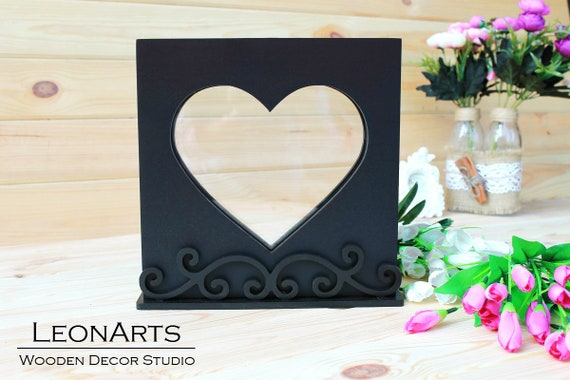Wedding Sand Ceremony Heart Frame-Black Unity shadow sand | Etsy