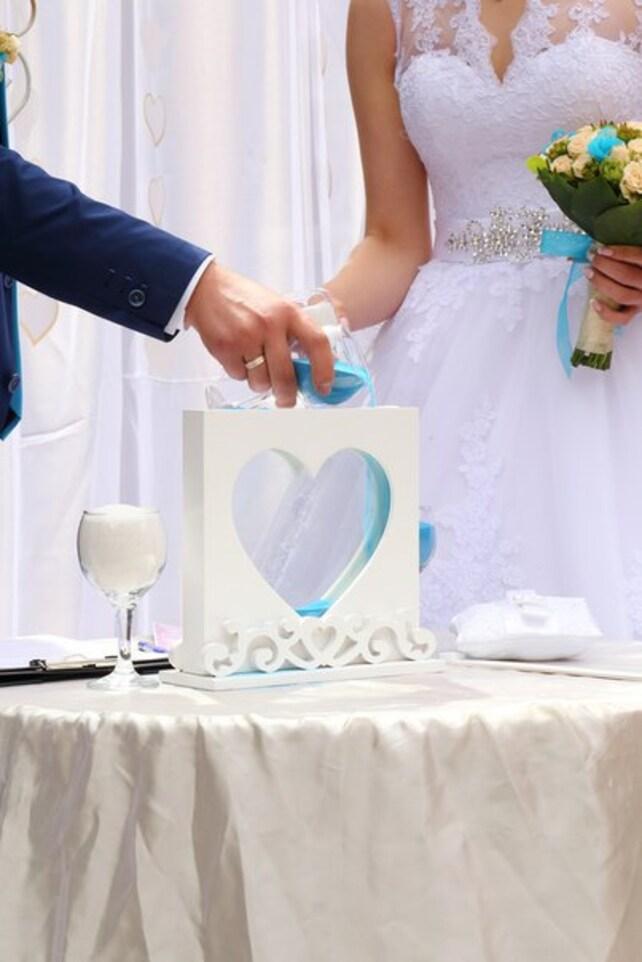 Hochzeit Sand Zeremonie Herz Rahmen-Einheit Schatten sand | Etsy