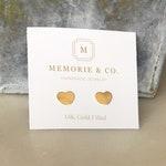 14k Gold Filled Heart Stud Earrings   Valentine Gift   Dainty Earrings   Minimalist Jewelry   Gold Heart Earrings   Minimalist Earrings