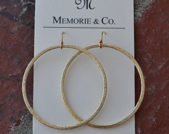 45mm Gold or Silver Hoops on 14K gold filled or sterling silver earwires