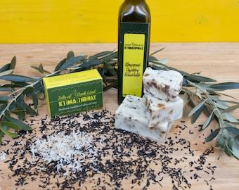 Vanilla & black tea soap bar, pure Greek olive oil soap, cold process soap, natural soap, organic soap, handmade body face wash, guest soap
