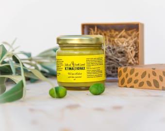 Wax salve essential lime oil, organic body salve, healing salve, medicinal salve, soothing salve, dry skin, rashes, eczema, first aid kit