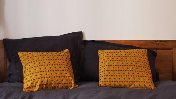 housse de coussin portefeuille avec passepoil 40x40 cm etsy. Black Bedroom Furniture Sets. Home Design Ideas