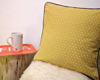 Scandinavian style cotton piped Cushion cover 40 x 40 cm
