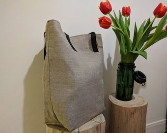 Tote bag size XL linen cotton lining