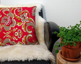 Cushion cover piped fabric patterned 40 x 40 cm