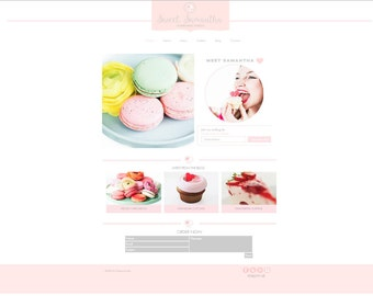 Feminine  Premade Blog  Template-Wix Platform-  Beautiful design will add a classic chic style to your blog