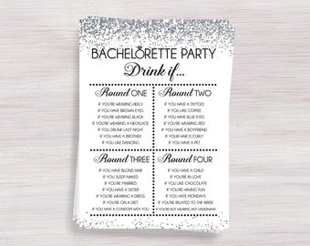 Bachelorette party drinking game drink if hens party fun bachelorette party drinking game drink if hens party games silver confetti bachelorette ideas bachelorette activity shower activities solutioingenieria Gallery