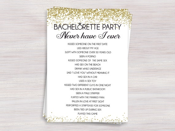 Bachelorette Party Games Package Funny Bachelorette Games Set Gold Confetti Shower Activity Set Drinking Game Scavenger Hunt Games Pack