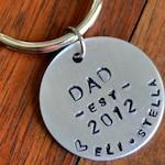 Christmas Gift for Dad, Custom Keychain, New Dad Keychain, Personalized Keychain, New Dad Gift, Engraved Keychain, Birthday Gift for Dad
