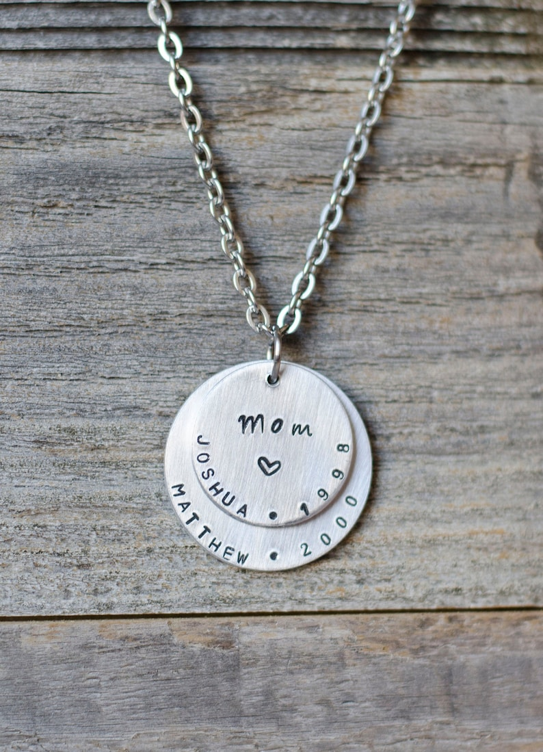 Personalized Mom Necklace with Kids Names Custom Jewelry for image 0