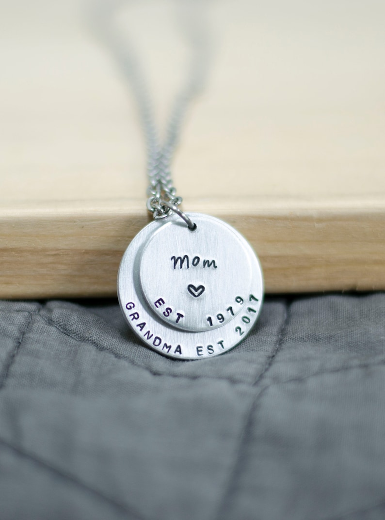 Gift for Grandma Necklace for Mom Grandma Necklace Jewelry image 0