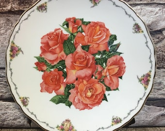Royal Albert  fine bone china Plate,in an edition strictly limited Elizabeth of Glamis. The Queen Mothers Favourite Flowers .