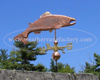 Copper Salmon Weathervane BH-WS-447