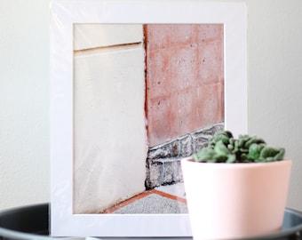 Pastel Abstract Mounted Print Wall Art