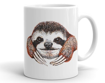 Sloth Mug Funny Sloth Coffee Cup Sloth Art Pictures Sloth images Sloth Gifts baby Smiling Sloth Meme Drawing zootopia sloth Day