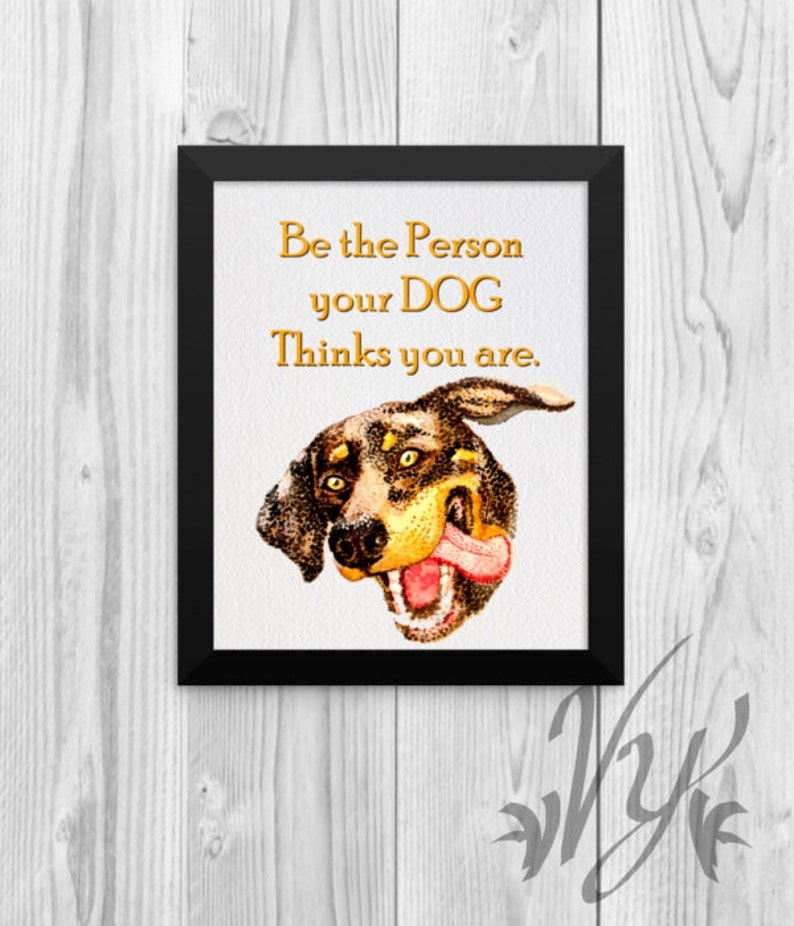 Funny Dog Doberman poster print quote cute puppy lover pet owner vet office  veterinary tech wall art decor Decorations Gifts