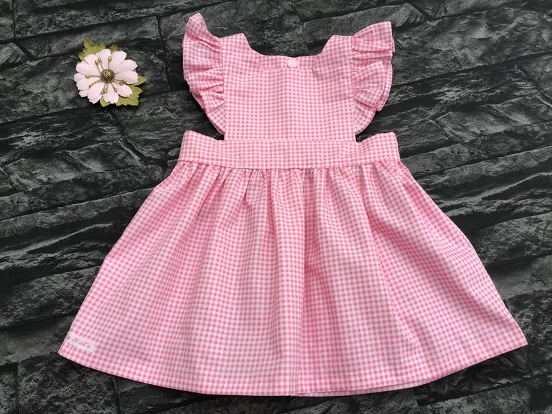 3ce3ec0800c Pinafore dress in pink/blue gingham check pinafore vintage | Etsy