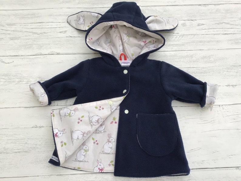 254eb7e95 Girls hooded coat with bunny ears baby girls bunny jacket