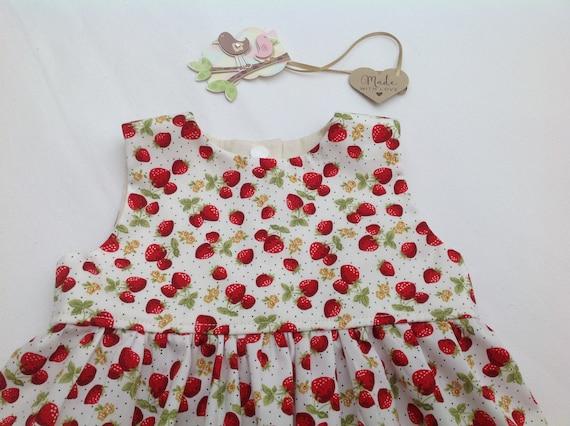 weltweit bekannt outlet achten Sie auf Erdbeer-Kleid, Baby-Mädchen-Kleid, Mädchen, Kleinkind Kleid, Mädchen  Kleidung, Baby-Outfit, Baby-Dusche, Baby-Geschenk, Sommerkleid,