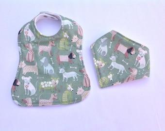 Bandana bib & feeding bib, baby dribble bib, burping bib, baby accessories, baby gift, baby shower, handmade