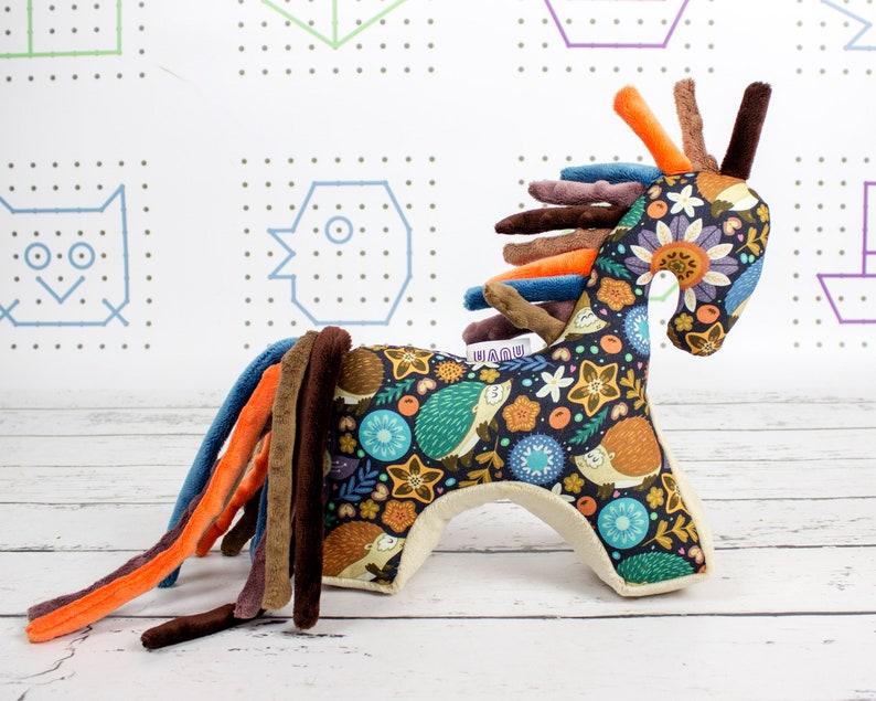 Newborn toy Mascot Horse Infant plush toy Plush Horse Hedgehog Sensory toy Horse toy Teething toy Horse Baby gift Stuffed Horse