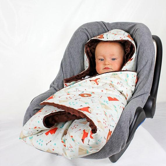 Southwest Animal Hooded Car Seat Blanket