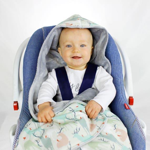 Deer Car Seat Blanket Infant Handmade CarSeat Swaddle Travel