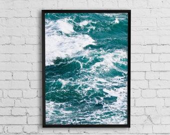 Wave print, Wave photography art, Ocean Photography Print, Ocean Print, Ocean Waves Art Print, Sea print, Coastal wall decor