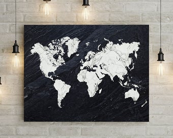 World Map Wall Art Large Map X X A Etsy - A1 world map poster