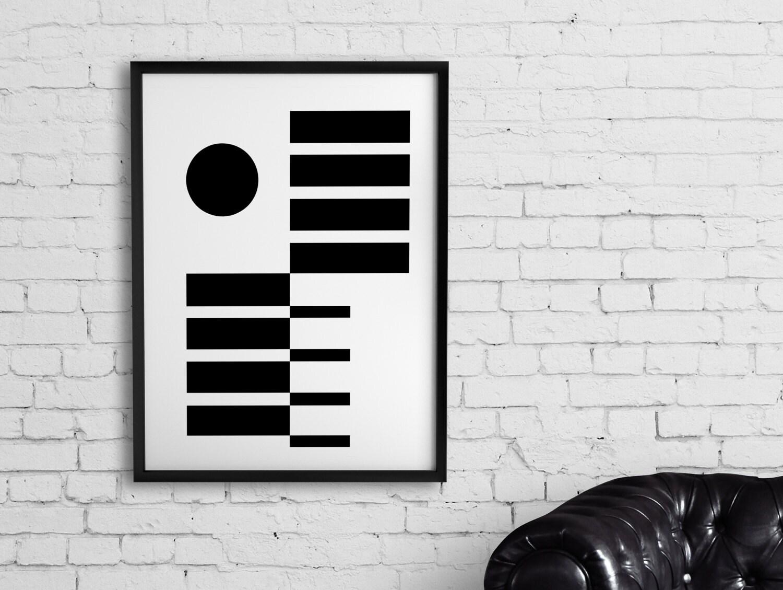 Geometric print Minimalist poster Large printable wall art ...