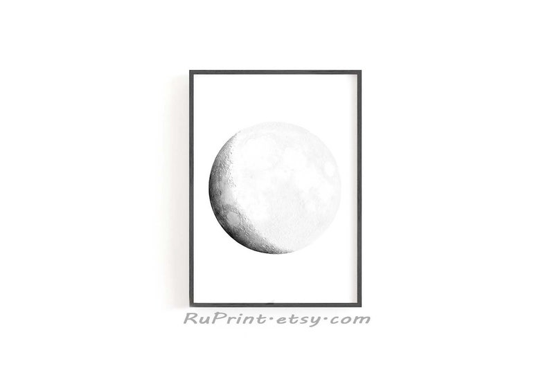 photo regarding Printable Moon Phases identified as Moon Levels Wall Artwork, Printable Moon Poster, Crescent Moon Artwork Print