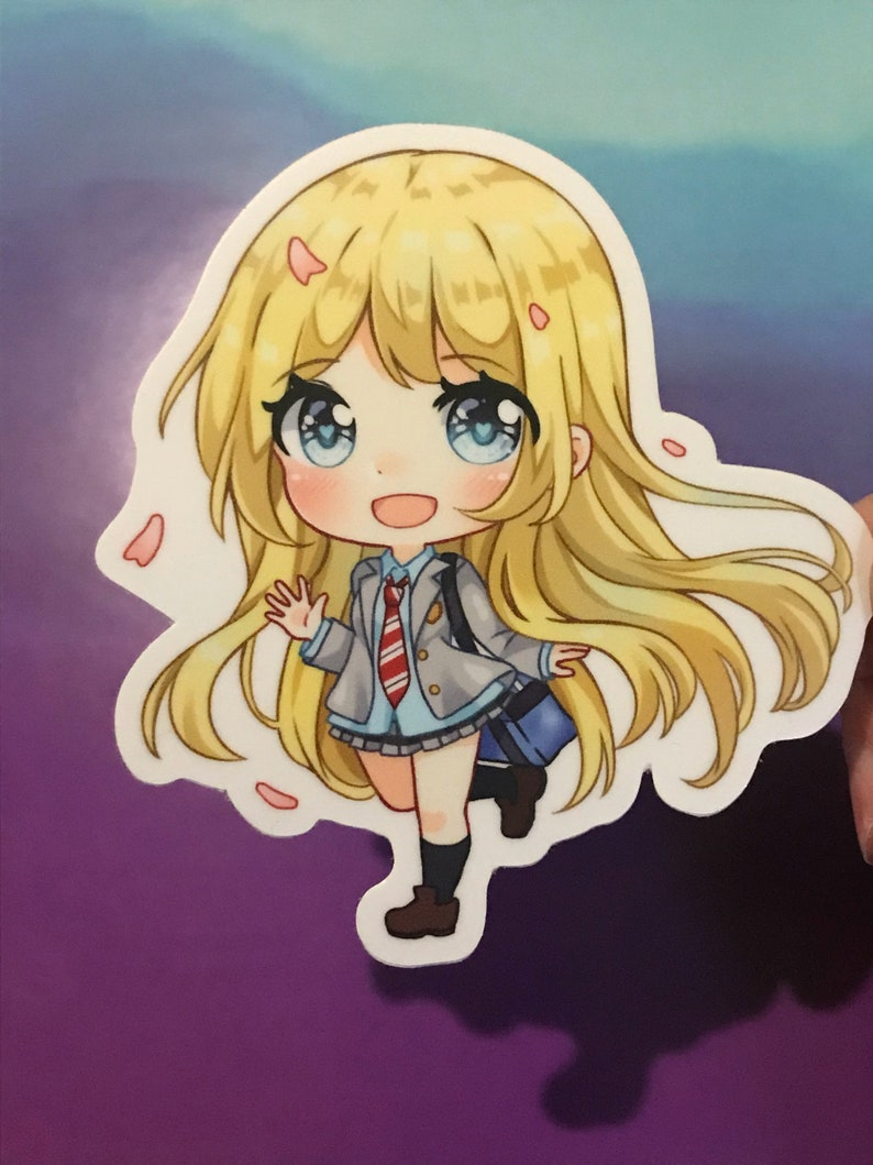 Kaori anime your lie in april sticker 3 inches great for etsy