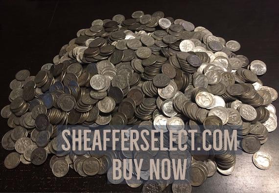 Vintage LOT 90/% SILVER COINS 8 OZ 1//2 LB+All 20th Century Types+Morgan $1+More