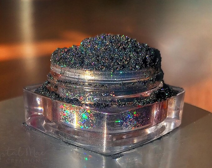 Rainbow Holographic Glitter Gun Metal Loose Mineral Eye Shadow