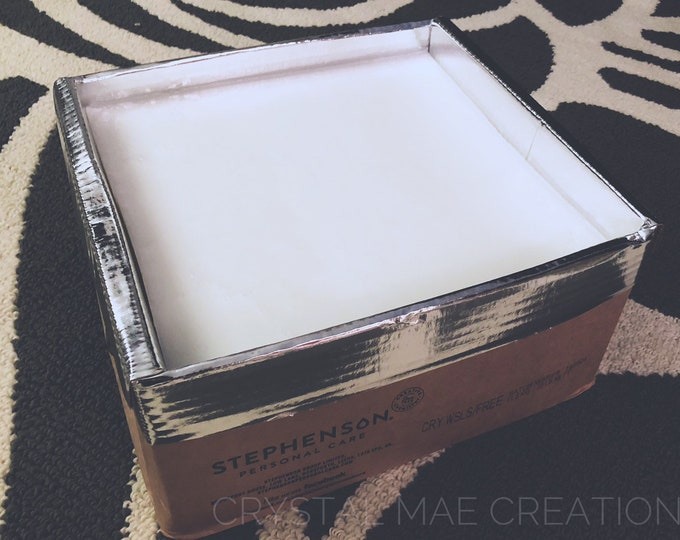 25 LB Melt & Pour soap base, WHITE or CLEAR, detergent free, free shipping