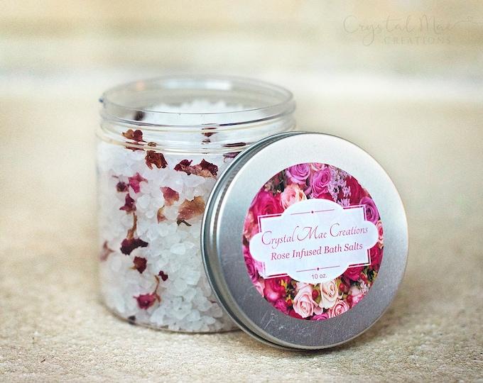 Organic Rose Infused Bath Salts